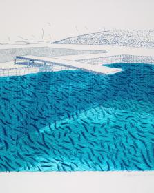 """Hockney, """"Lithographic water made of lines """" at Andipa Gallery"""