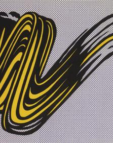 "Lichtenstein, ""Brushstroke"" at Andipa Gallery"