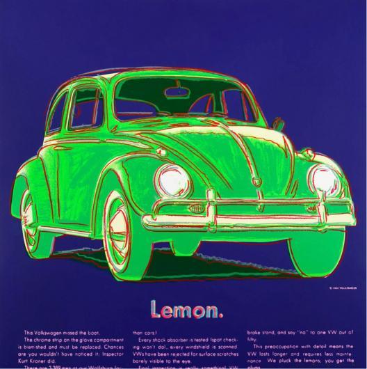 Andy Warhol:Ads: Volkswagen, F & S II.358