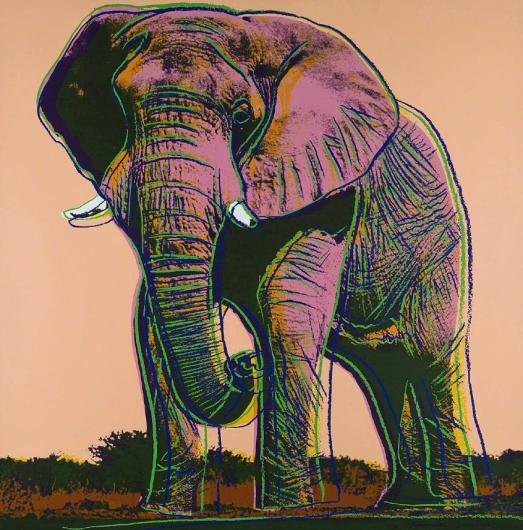 Andy Warhol:Endangered Species:  African Elephant, F & S II.293