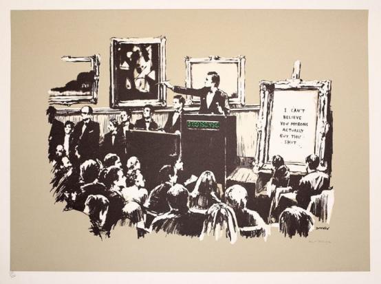Banksy:Morons (Sepia)