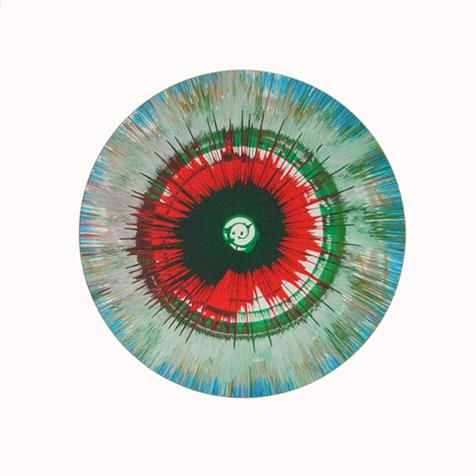 Damien Hirst:Untitled (Green, Red and Blue Spin Painting)