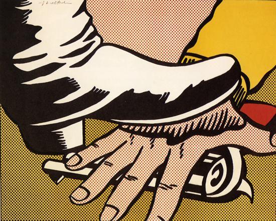 Roy Lichtenstein:Foot and Hand