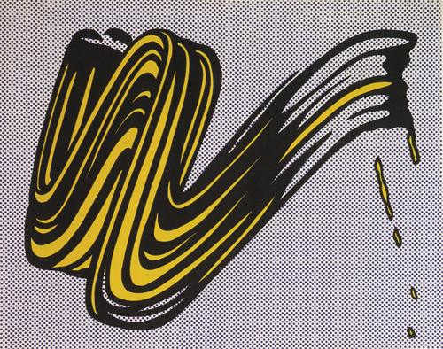Roy Lichtenstein:Brushstroke