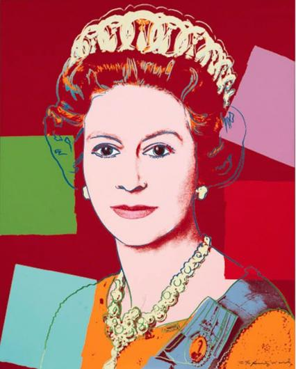 Andy Warhol:Reigning Queens: Queen Elizabeth II of the United Kingdom, F & S II.334,