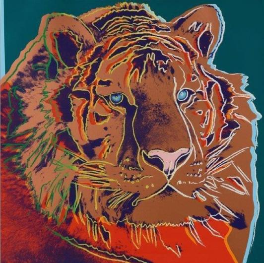 Andy Warhol:Endangered Species: Siberian Tiger, F & S II.297