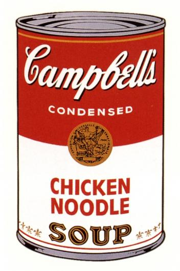 Andy Warhol:Campbell's Soup Can I - Chicken Noodle