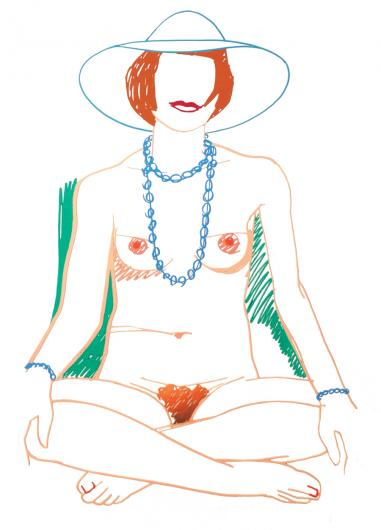 Tom Wesselmann:Monica Crosslegged with Beads