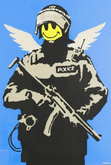 Banksy:Flying Copper