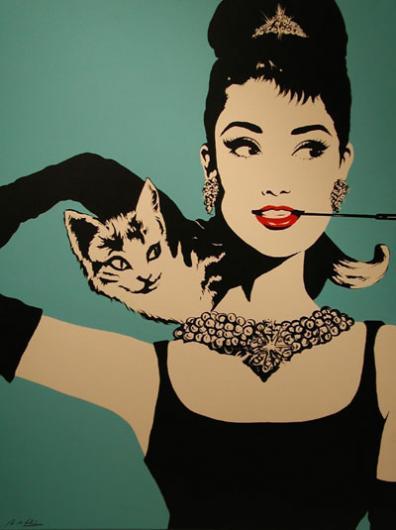 Antonio de Felipe:Audrey con Gato