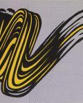 """Lichtenstein, """"Brushstroke"""" at Andipa Gallery"""