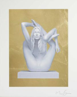 Marc Quinn:Sphinx (Gold Leaf)