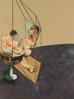 Francis Bacon:Three Studies of Male Back (left panel)
