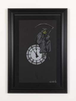 Banksy:Chalk Grin Reaper