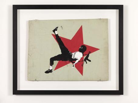 Banksy:Football Terrorist