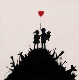 Banksy:Kids on Guns