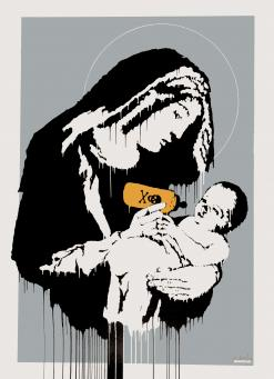 Banksy:Virgin Mary (Toxic Mary)