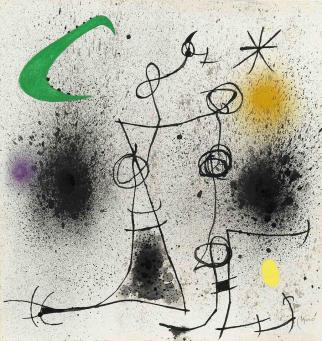 Joan Miro:Deux Femmes dans la Nuit