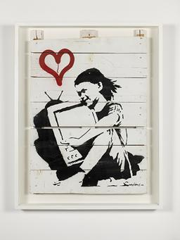 Banksy:Girl With TV