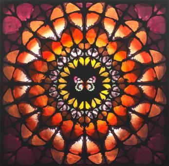 Damien Hirst:Sanctum (Brown, Orange and Red)