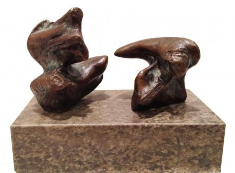 Henry Moore:Two Reclining Figures: Points