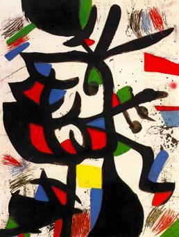 Joan Miro:La Marchande