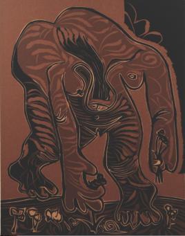 Pablo Picasso:Femme Nue Cueillant des Fleurs