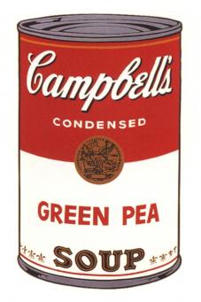 Andy Warhol:Campbell's Soup Can I - Green Pea