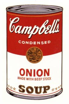 Andy Warhol:Campbell's Soup Can I - Onion