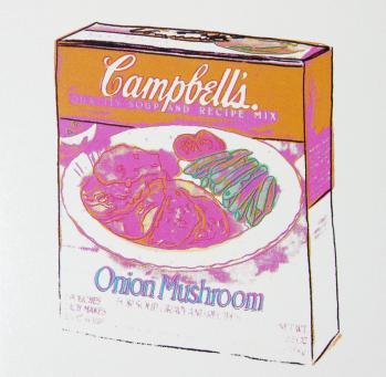 Andy Warhol:Campbell's Soup Box: Onion Mushroom Soup Box