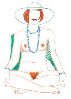Tom Wesselmann:Monica Crosslegged with Beads