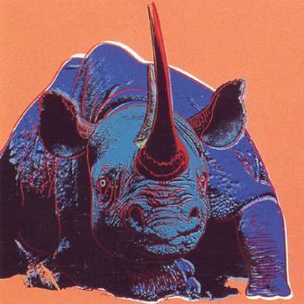 Andy Warhol:Black Rhinoceros, from: Endangered Species (F. & S. II.301)
