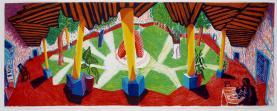 David Hockney:Hotel Acatlan Two Weeks Later