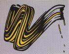 Roy Lichtenstein:Brushstroke
